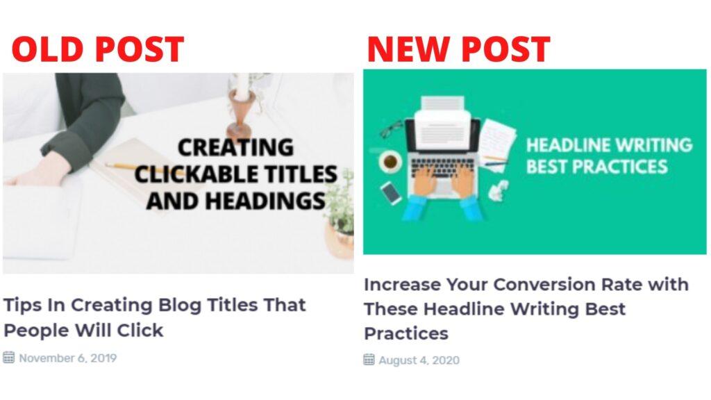 repurposing content - look for improvement