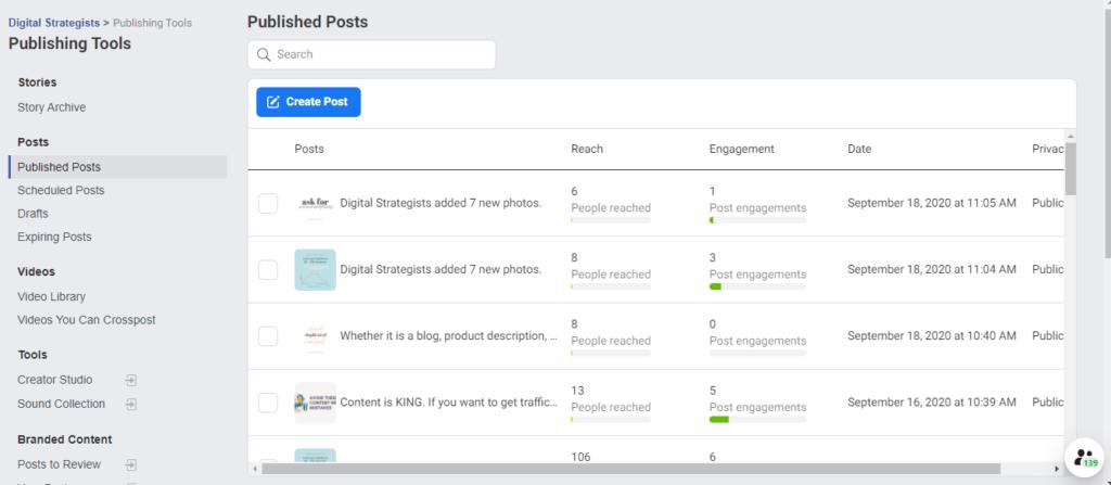 new facebook publishing tools